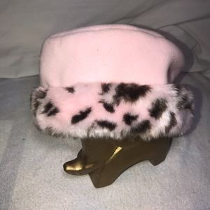 Pink Leopard print toddler weather Hat